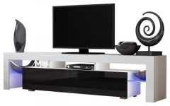 White and Black Tv Stands
