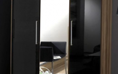 3 Door Black Gloss Wardrobes