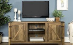 Woven Paths Barn Door Tv Stands in Multiple Finishes