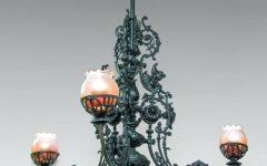 Cast Iron Antique Chandelier