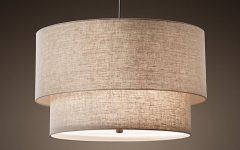 Fabric Drum Shade Chandeliers