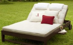 Double Outdoor Chaise Lounges