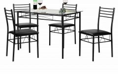 Lightle 5 Piece Breakfast Nook Dining Sets