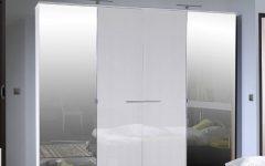 White Gloss Mirrored Wardrobes
