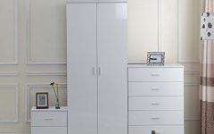 White Gloss Wardrobes Sets