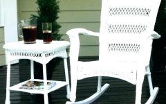 White Resin Patio Rocking Chairs